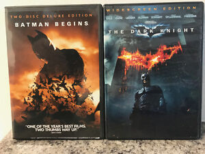 Batman Begins and The Dark Knight DVDs