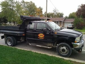 2002 F550 4x4 dump body plow truck with salter