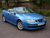 EXCELLENT LOOKS!!! 2007 SAAB 9-3 1.9 TiD LINEAR 150 2dr CONVERTIBLE HALF LEATHER