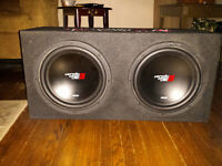 Cerwin Vega dual 12 inch subs 1200w peak power