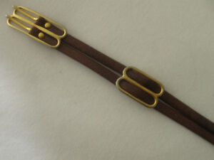 A VINTAGE CLASSIC LEATHER BELT with MOST UNUSUAL STYLING