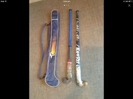 Hockey Stick Bag & 2 Hockey Sticks