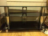 Stylish glass TV stand