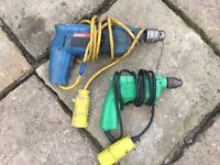 Set of drills bosch and hitachi 110v