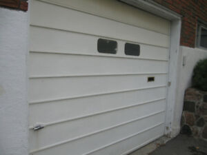 steel garage door and opener and all hard whare for sale