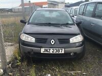 2003 Renault Megane, 1.6 petrol, breaking for parts only, all parts available