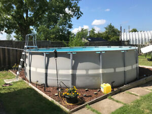 18' X 52' Intex pool for sale