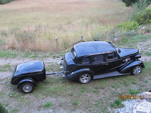 1938 CHEVY & 1938 retro camping trailer