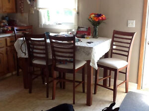 Dining set with 8 chairs and one leaf