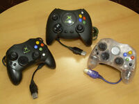 Original XBOX controllers w/breakaway cables