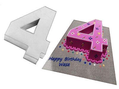 Small Number Four 4 Birthday Cake Pan Baking Tin Mold 10
