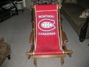 FOLD UP  WOOD AND CANVASS  Montreal Canadians   Chair
