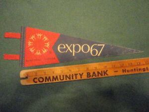 Vintage  Flag Banner expo67 Montreal Canada