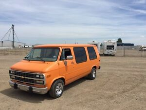 "1992 Chevy G20 van ""The Pumpkin"""