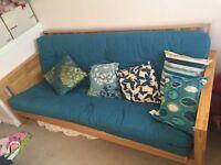 Fabulous wooden futon. Hardly used
