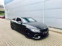 BMW 420d M Sport Auto + Coupe + BLACK / RED LEATHER + M PERFORMANCE KIT
