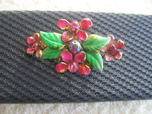 VINTAGE PINK-PETALLED BROOCH from GRANDMA'S Jewel Box