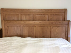 Mennonite made - King Sleigh Bed with mattress