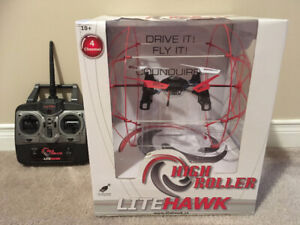 (NEW) LiteHawk 'High Roller' Drive or Fly Drone