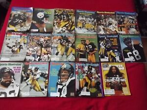 PITTSBURGH STEELERS NFL PACKAGE DEAL:17SPORTS ILLUSTRATED MAGS