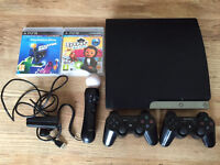 PS3 slim 320GB with move starter pack & game
