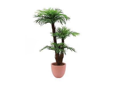Europalms Areca Palme mit Palmfaserstamm, 120cm - Kunstpflanze