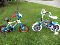 boy an girls bikes with training wheels [in hanover]