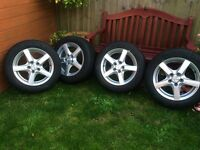 4 x Michelin Alpin tyres with Enzo Alloy wheels