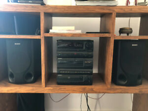 Sony stereo - CD, radio, tape, and video options