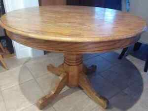 solid wood pedestal dining room table