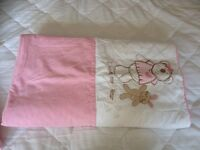 Cot bed quilt. Girls
