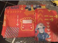 Fireman Sam Red Alarm Junior Toddler Rotary Duvet Cover & Pillowcase Set