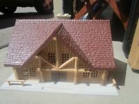 1960's ERTL Longhorn Ranch with animals / barns / silos