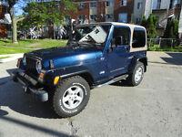 JEEP TJ 2002 4 cylindres 5vitesses Seulement 33,600 KM Certifier