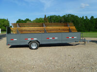 Stackable Tables Complete with Benches and Trailer For Sale