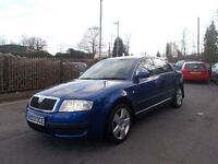 Skoda Superb 1.8 T Comfort 4dr ***FSH***CAMBELT CHANGED*** (blue) 2003