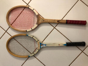 Selling 2 wooden tennis racquets