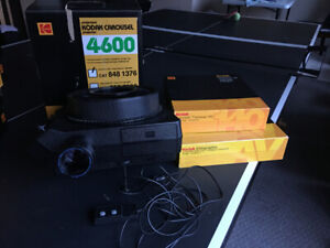 kodak slide carousel with 140 slide tray- excellent condition