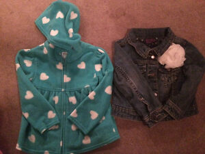 Size 2 sweater and jean jacket