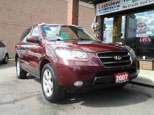 2007 Santa Fe NO ACCIDENT,AUTO,AWD,AIR,SUNROOF,LEATHER.$6288