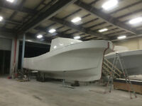 52' x 16' Lobster Hull with Cabin and Bulkheads