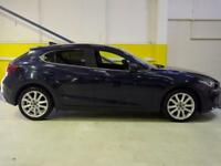 2015 Mazda 3 2.2d Sport Nav 5dr Auto Diesel blue Automatic