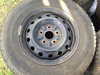 Firestone Winterforce 195/70r14 with rims 5x114.3