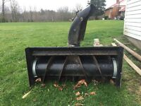 Snow blower attachment for lawn tractors