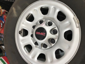 2017 GMC 18 inch painted steel rims.