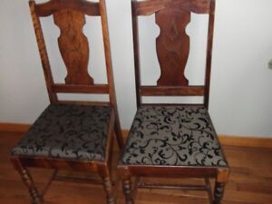Antique All Wood Chairs