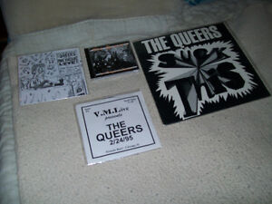 (SALE! SEE,LOOK) 3 RECORD 1 CD LOT THE QUEERS PUNK ROCK LOOKOUT