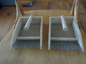 2  Brand New Nutley's Wooden Blueberry (Berry) pickers