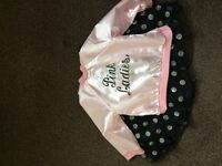 Girls pink lady outfit