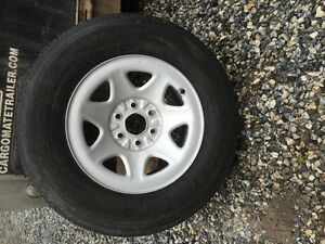 GMC / Chevy steel rims and tires. New